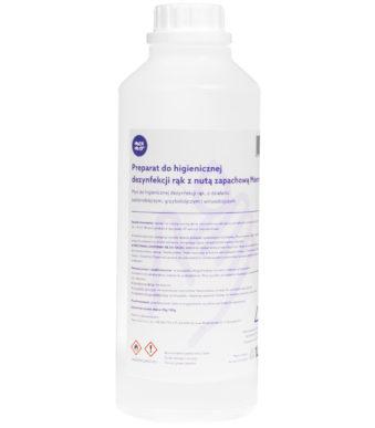 1L Preparat do higienicznej dezynfekcji rąk o działaniu bakteriobójczym, 70% alkoholu
