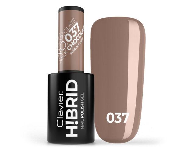 Lakier hybrydowy H!BRID – 037 Milk Chocolate