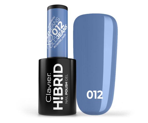 Lakier hybrydowy H!BRID – 012 Old Jeans
