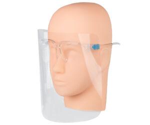Przyłbica Ochronna typu Okulary – Wielorazowa na Twarz